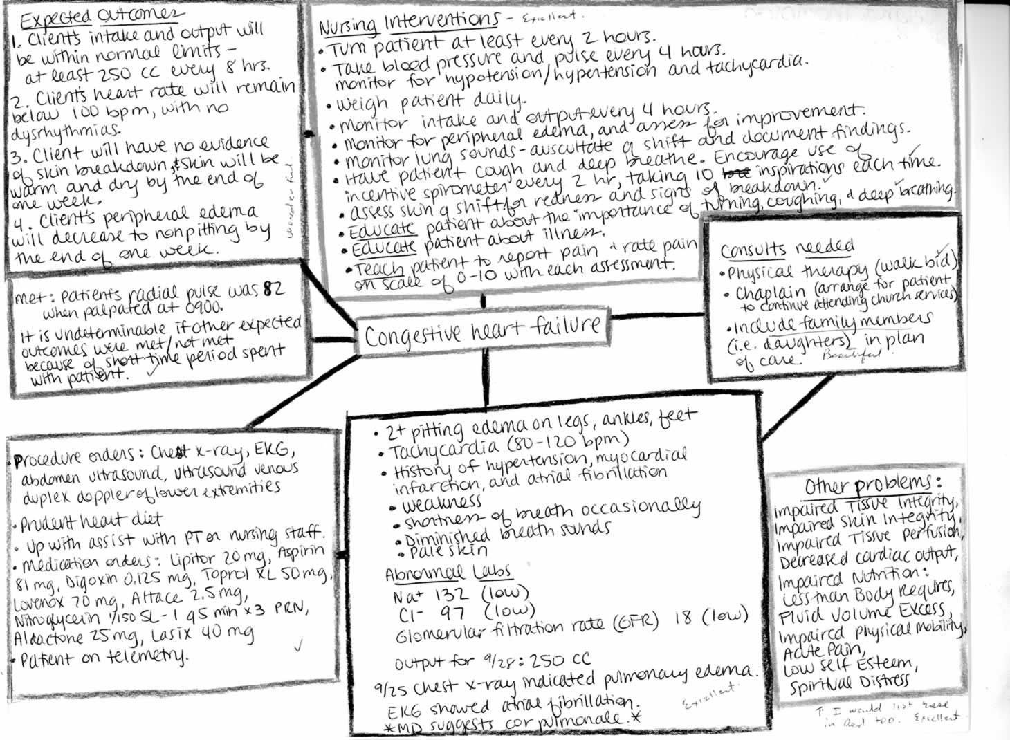 Concept Map Nursing Template Nursing Concept Maps Process Clinical