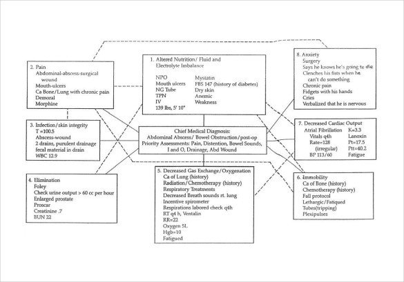 Concept Map Nursing Template Sample Concept Map Template 10 Free Documents In Pdf Word
