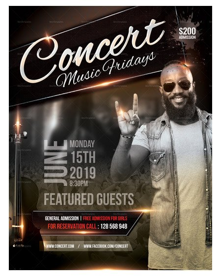 Concert Flyers Template Free 160 Free and Premium Psd Flyer Design Templates Print