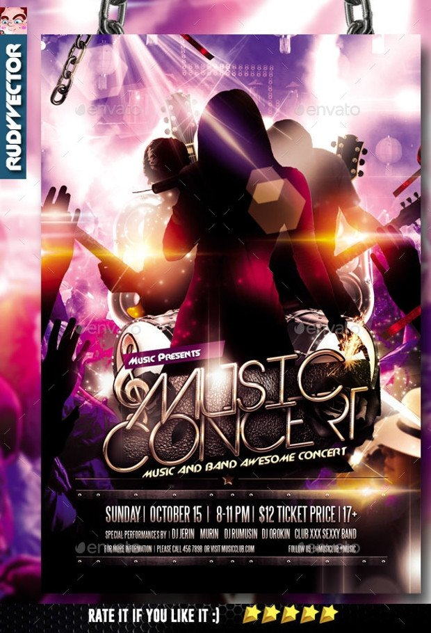Concert Flyers Template Free 24 Band Flyer Templates Apple Pages Ms Word Publisher