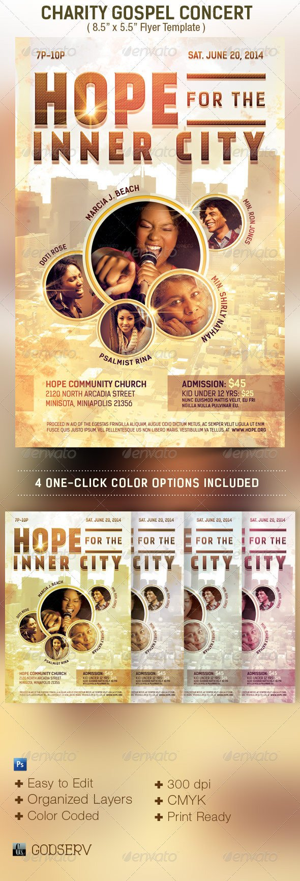 Concert Flyers Template Free Charity Concert Flyer Template by Godserv