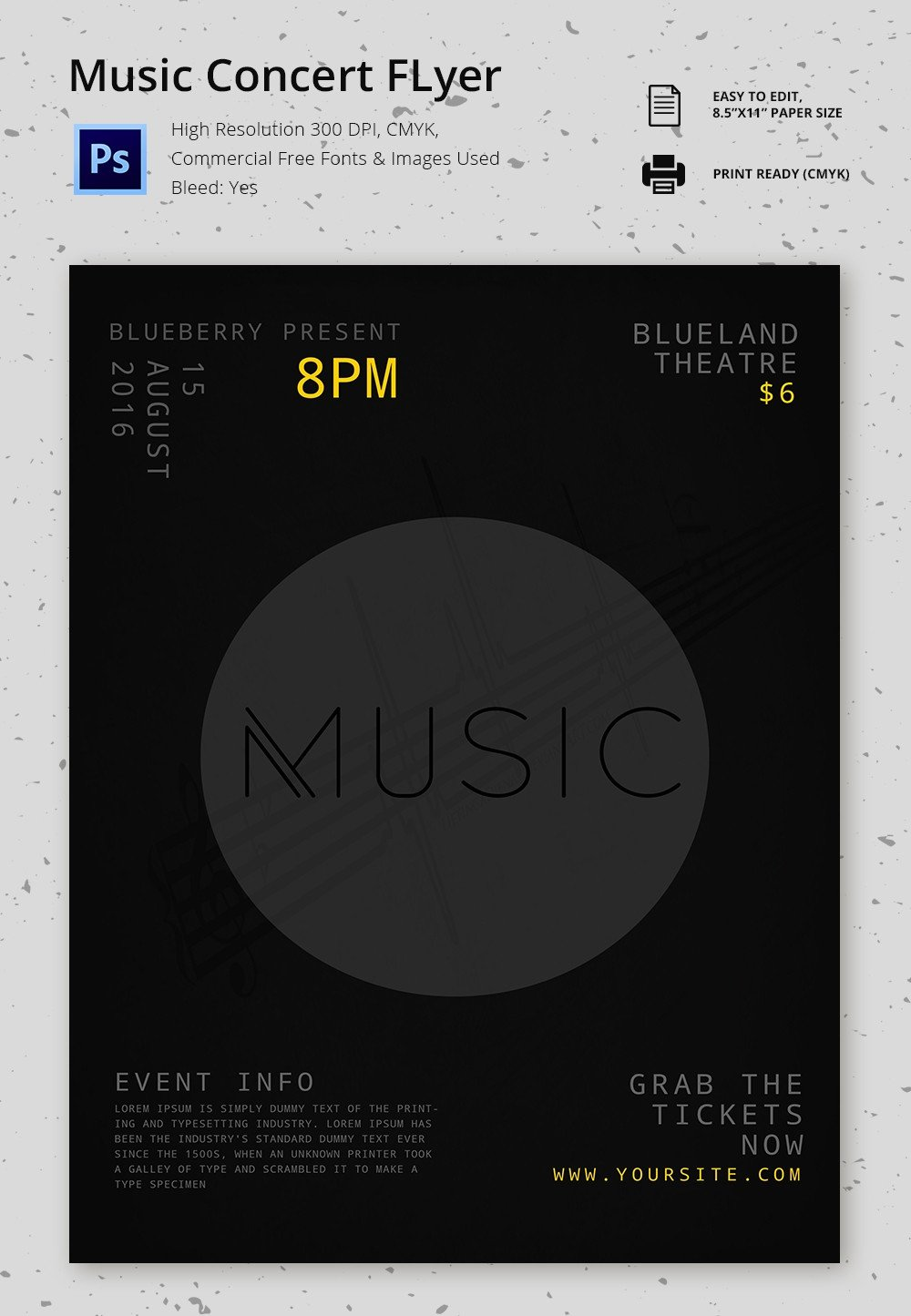 Concert Flyers Template Free Concert Flyer Template 48 Psd format Download
