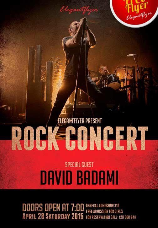 Concert Flyers Template Free Download the Free Rock Concert Free Flyer Template for