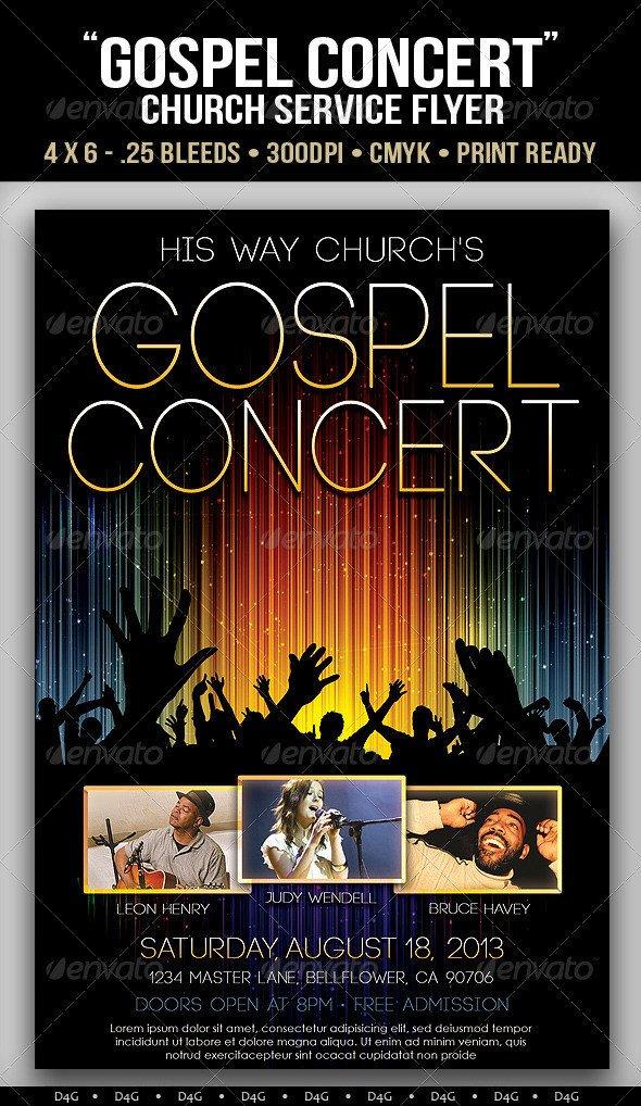 Concert Flyers Template Free Gospel Concert Lights Flyer Template On Behance