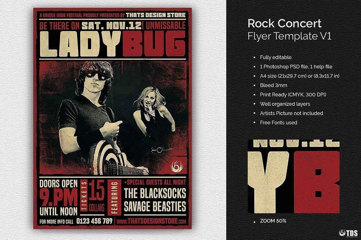 Concert Flyers Template Free Rock Concert Flyer Template