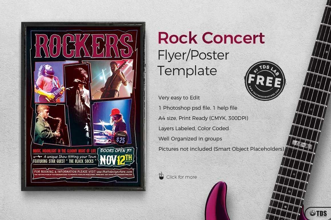 Concert Flyers Template Free Rock Concert Free Flyer