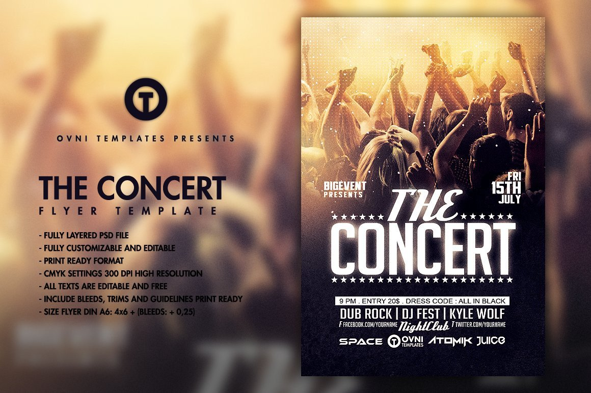 Concert Flyers Template Free the Concert Band Flyer Template Flyer Templates