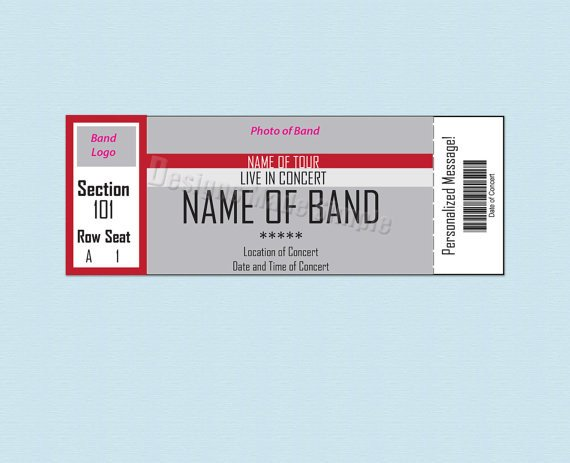 Concert Ticket Template Free Printable 26 Cool Concert Ticket Template Examples for Your event