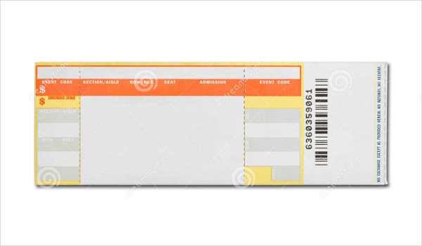 Concert Ticket Template Free Printable 29 Concert Ticket Templates Psd Vector Eps
