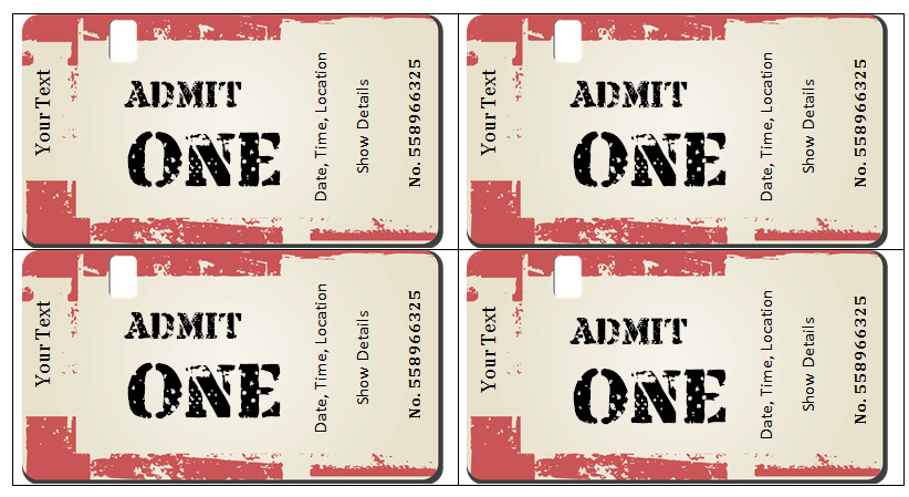 Concert Ticket Template Free Printable 6 Ticket Templates for Word to Design Your Own Free Tickets