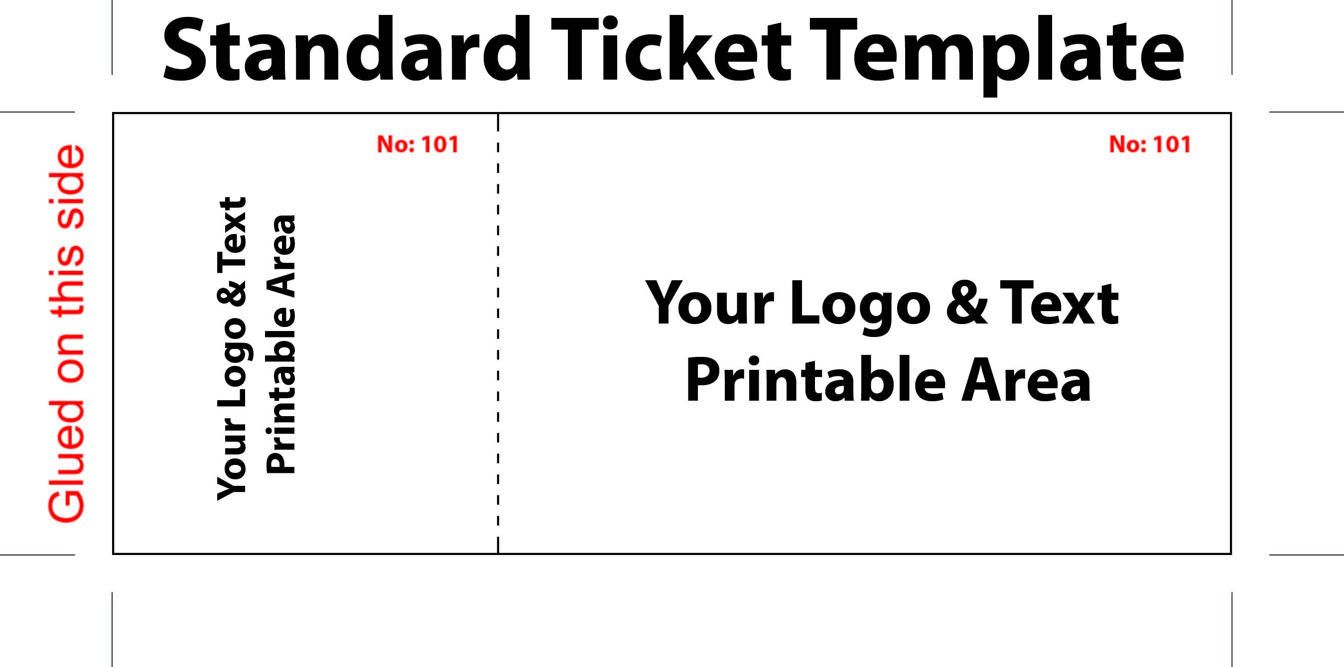 Concert Ticket Template Free Printable Free Editable Standard Ticket Template Example for Concert
