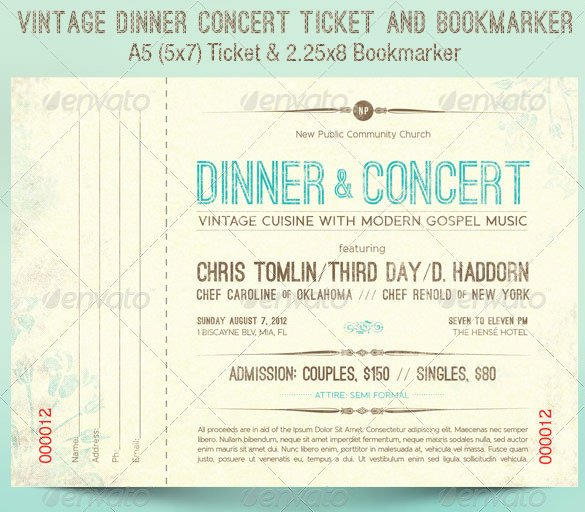 Concert Ticket Template Word 115 Ticket Templates Word Excel Pdf Psd Eps