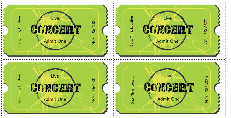 Concert Ticket Template Word 6 Ticket Templates for Word to Design Your Own Free Tickets