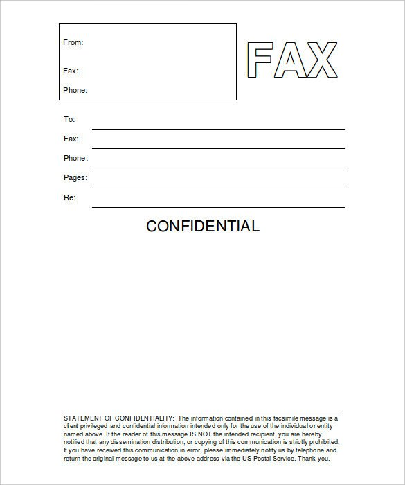 Confidentiality Fax Cover Sheet 12 Free Fax Cover Sheet Templates – Free Sample Example