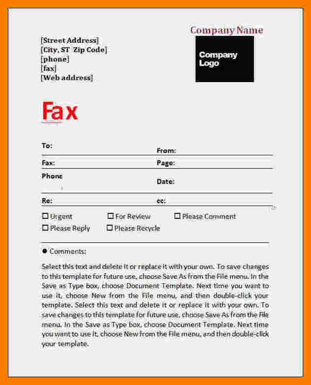 Confidentiality Fax Cover Sheet 6 Confidential Fax Statement