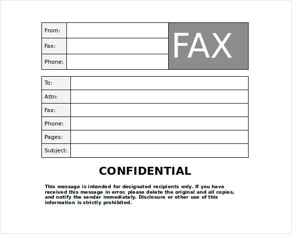 Confidentiality Fax Cover Sheet 9 Confidential Fax Cover Sheet Templates Doc Pdf