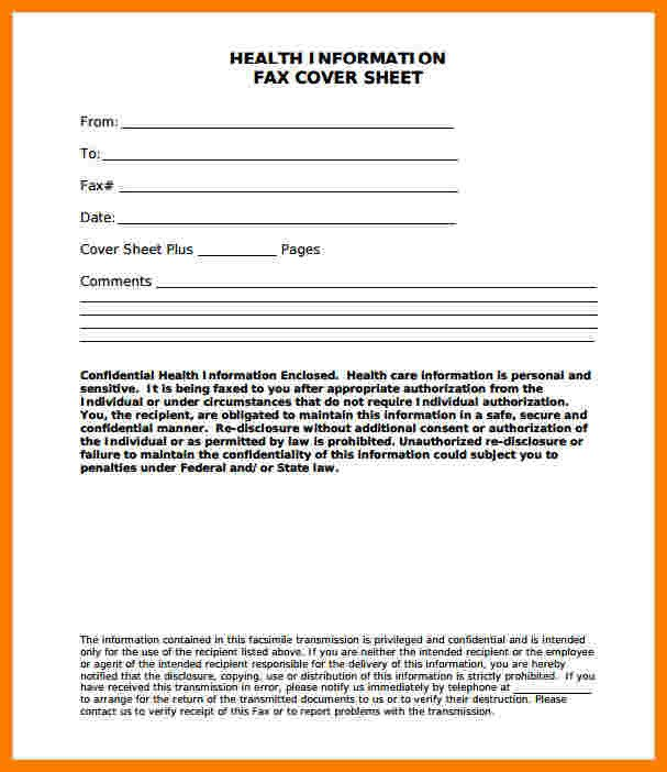 Confidentiality Fax Cover Sheet 9 Hipaa Fax Confidentiality Statement