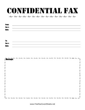 Confidentiality Fax Cover Sheet Barbed Wire Confidential Fax Fax Cover Sheet at