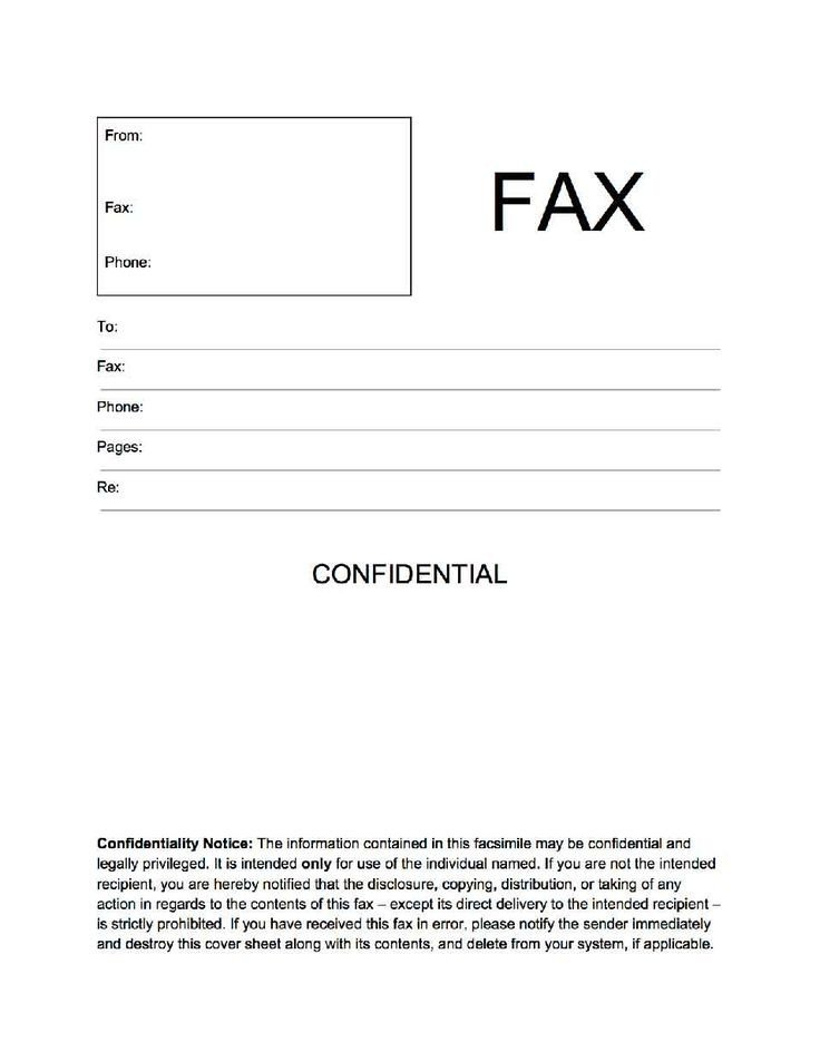 Confidentiality Fax Cover Sheet Confidential Fax Cover Sheet