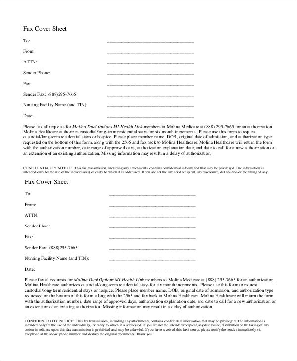 Confidentiality Fax Cover Sheet Sample Confidential Fax Cover Sheet 6 Documents In Word