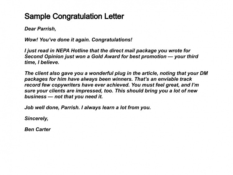 Congratulation Letter On Achievement How to Write Congratulation Letters