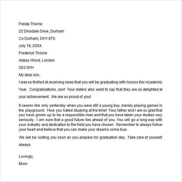 Congratulation Letter On Achievement Sample Congratulation Letter 10 Free Documents Download