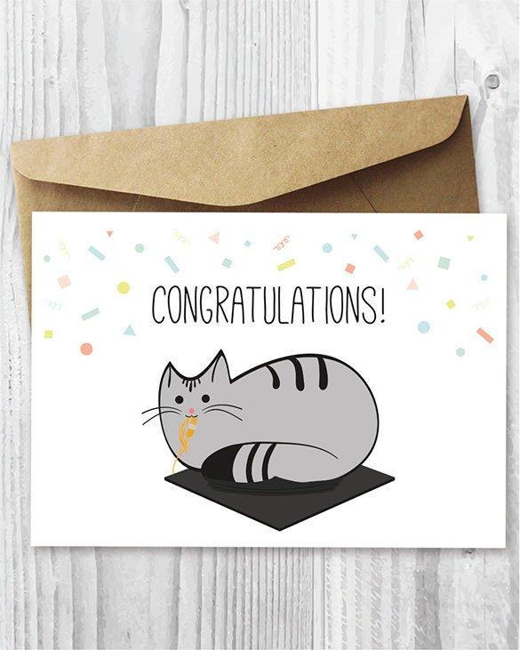 Congratulations Graduation Card Template Congratulations Card Template 20 Free Sample Example