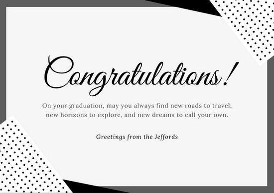 Congratulations Graduation Card Template Customize 211 Congratulations Card Templates Online Canva