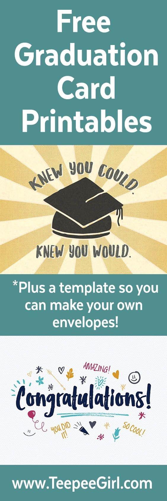 Congratulations Graduation Card Template Free Graduation Congratulations Cards with Envelope