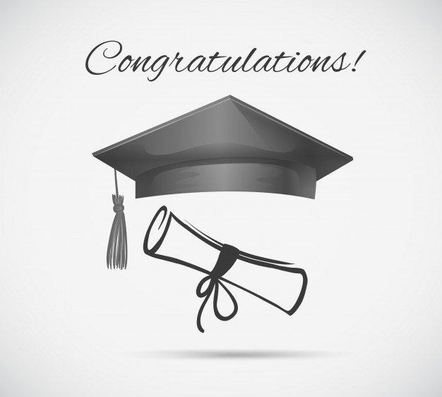 Congratulations Graduation Card Template Graduation Cap Vectors S and Psd Files