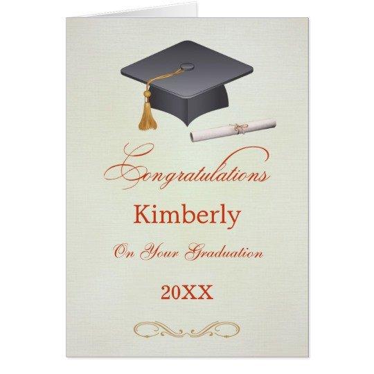 Congratulations Graduation Card Template Mortar and Diploma Graduation Congratulations Card