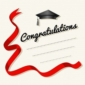 Congratulations Graduation Card Template Ribbons Vectors 6 600 Free Files In Ai Eps format