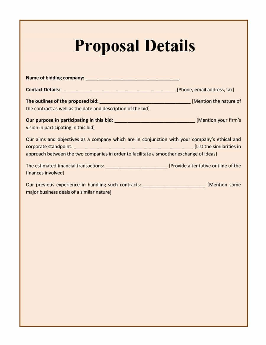Construction Bid Proposal Template 31 Construction Proposal Template & Construction Bid forms
