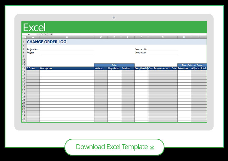 Construction Change order Template Excel Free Construction Project Management Templates In Excel