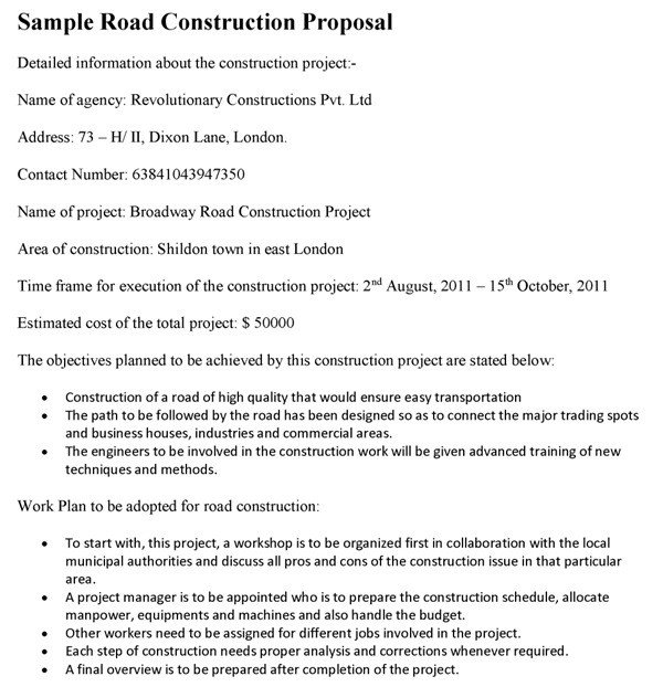Construction Job Proposal Template Employee Wellness Program Proposal Sample Templates