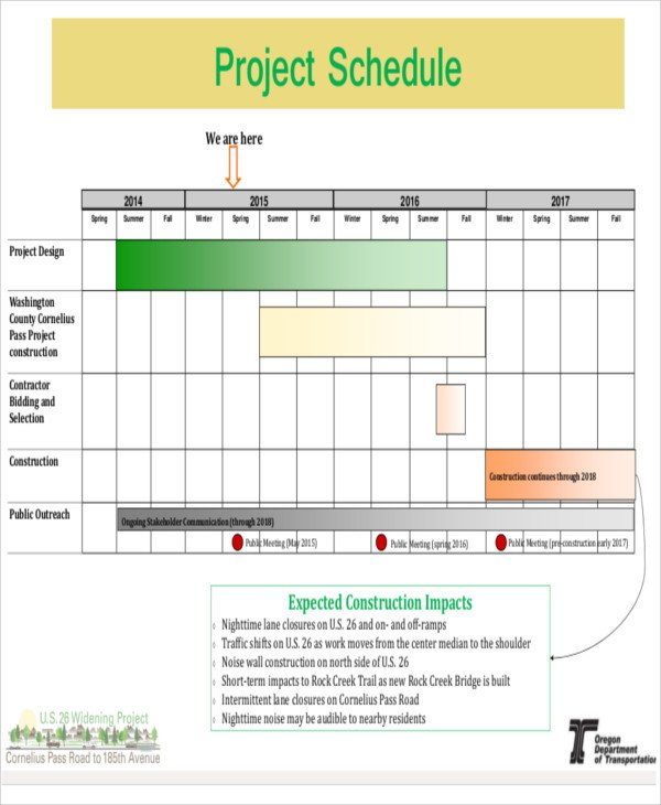Construction Project Schedule Example 15 Construction Schedule Templates Free Sample Example