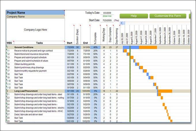 Construction Schedule Template Excel Construction Schedule Pdf