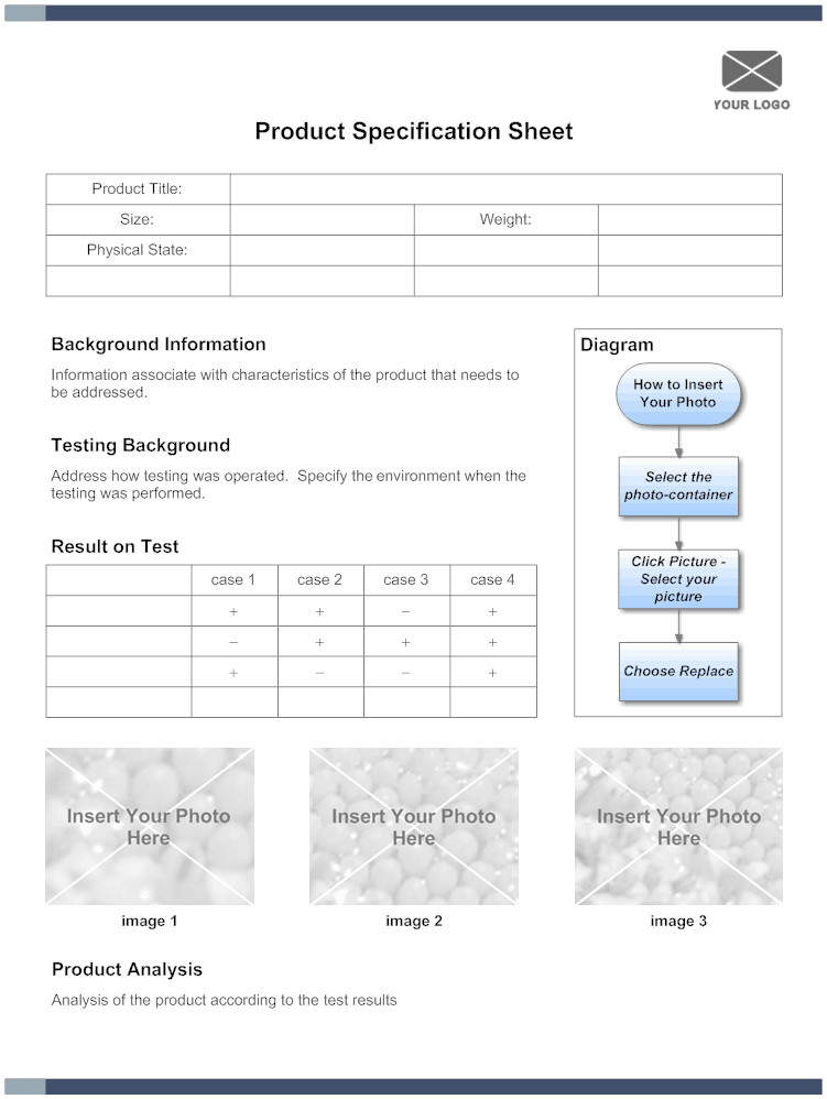 Construction Spec Sheet Template 5 Free Specification Sheet Templates Word Excel Pdf