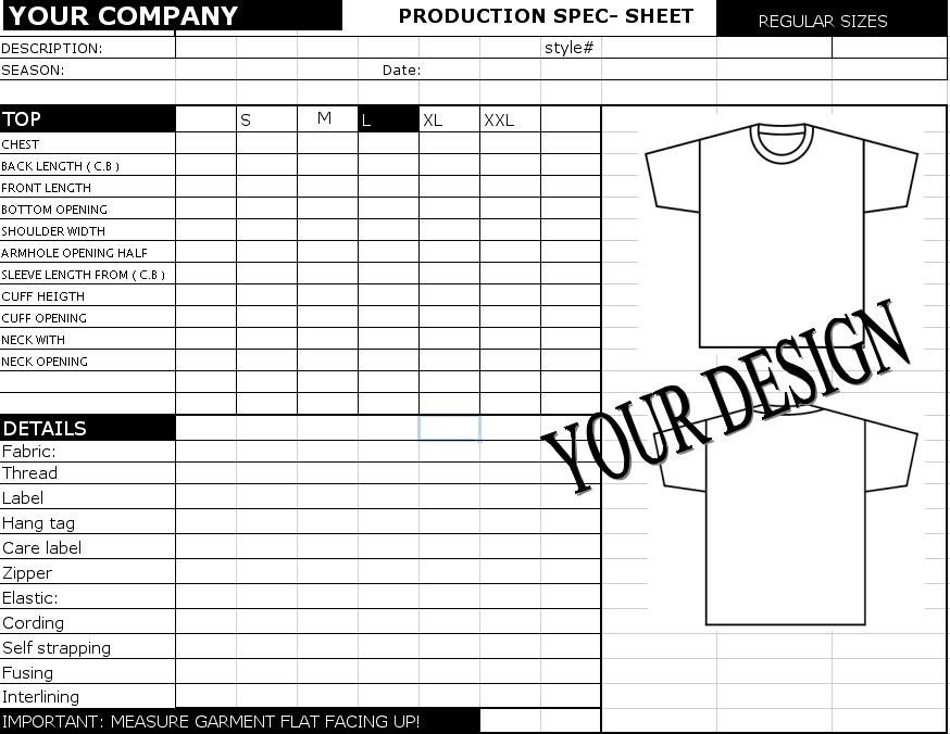 Construction Spec Sheet Template Spec Sheet Template