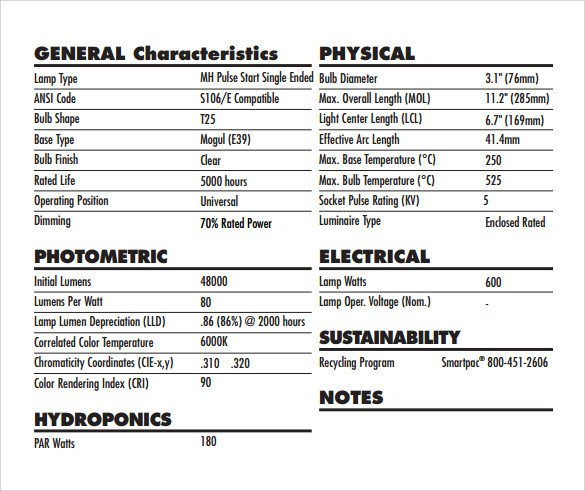 Construction Spec Sheet Template Specification Sheet Sample – 11 Documents In Pdf