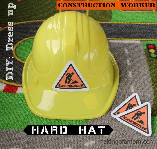 Construction Worker Hat Craft Diy Dress Up Construction Worker Making Of A Mom