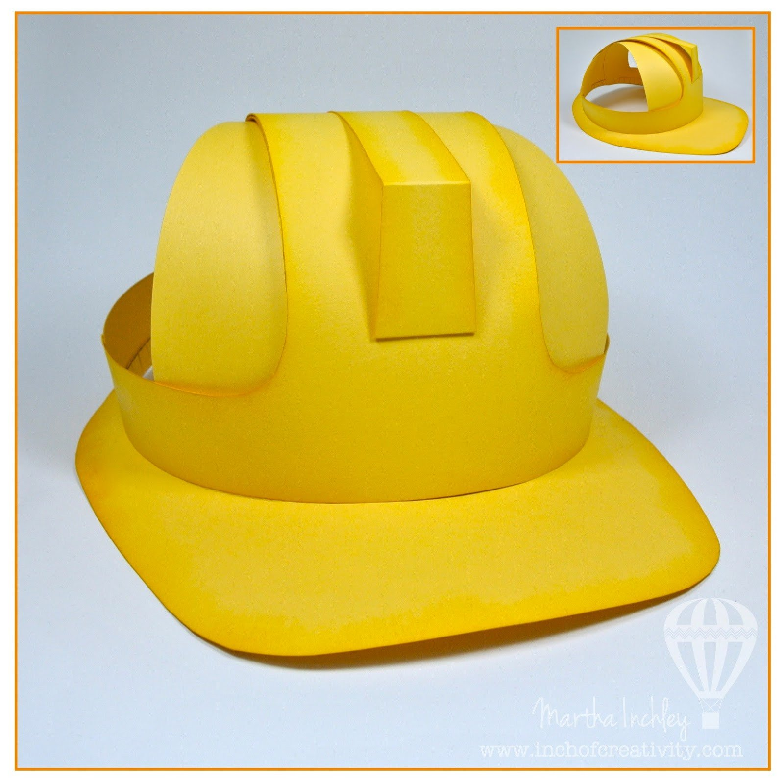 Construction Worker Hat Craft Inch Of Creativity the Construction Crew