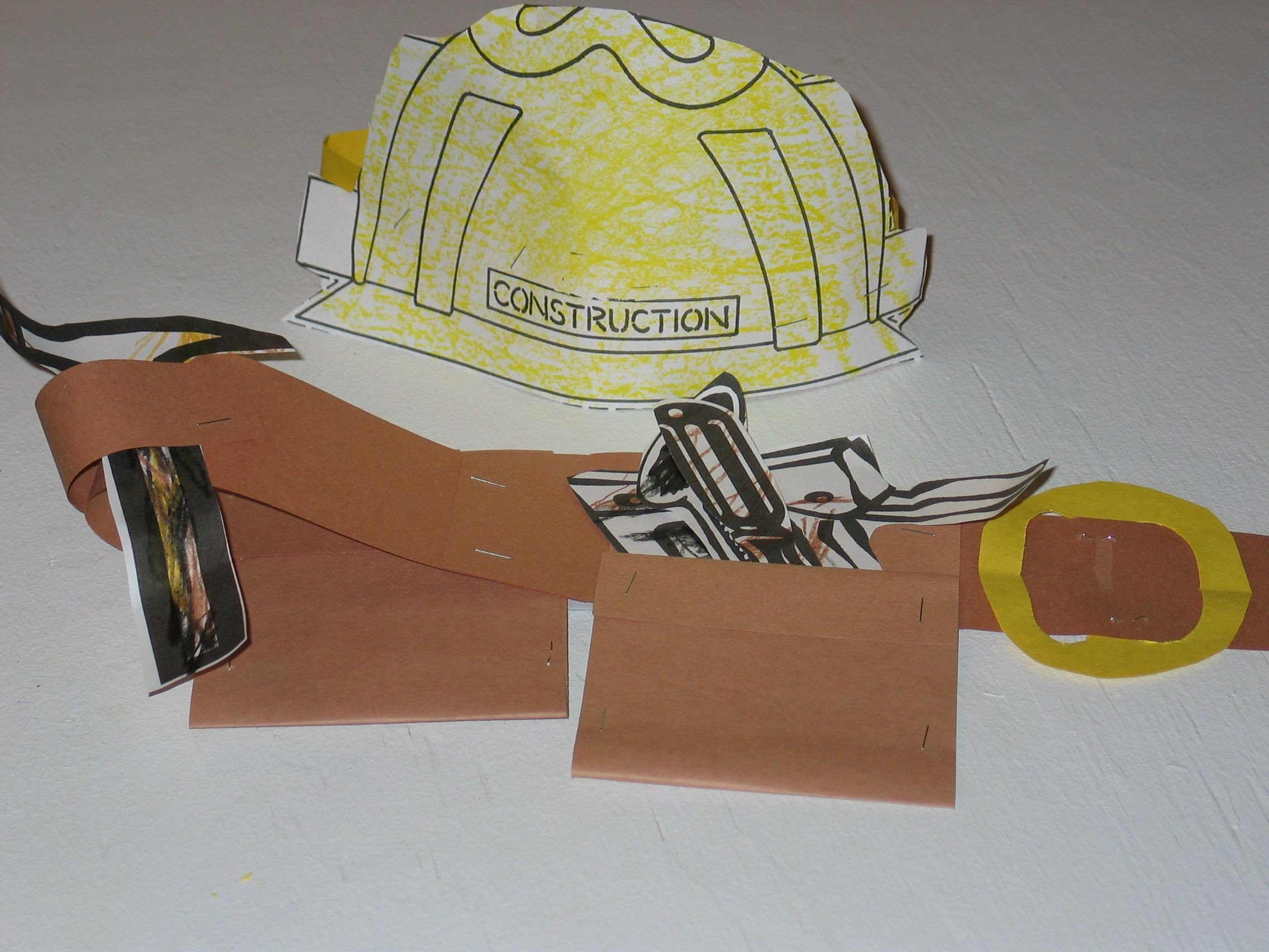 Construction Worker Hat Craft Munity Helper Construction Helper