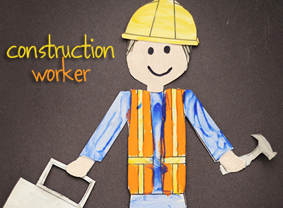 Construction Worker Hat Craft Printable for Pin the Hammer or Lunch Box or