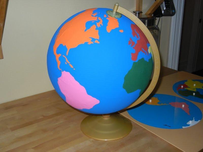 Continent Cutouts for Globe Diy Continents Globe Montessori Geography Materials at