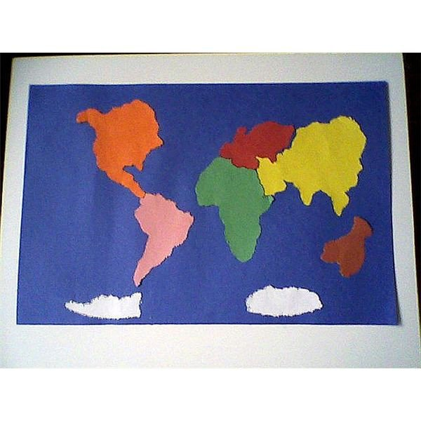 Continent Cutouts for Globe Hands Activities for the Seven Continents for Young