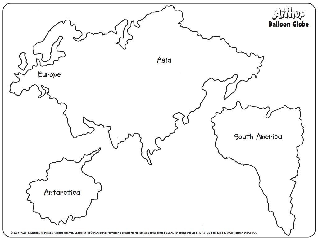 """Continent Cutouts for Globe Pbs Kids On Twitter """"for Younger Kids """"the World"""" Can Be"""