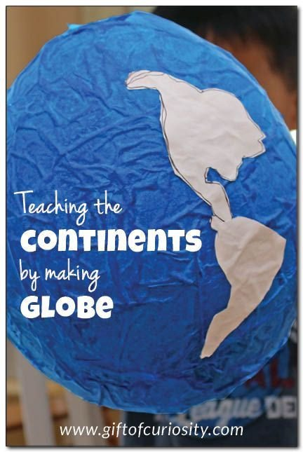 Continent Cutouts for Globe Teach the Continents by Making A Globe