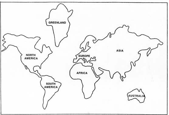 Continent Templates for Globe Globe Cut Out Template