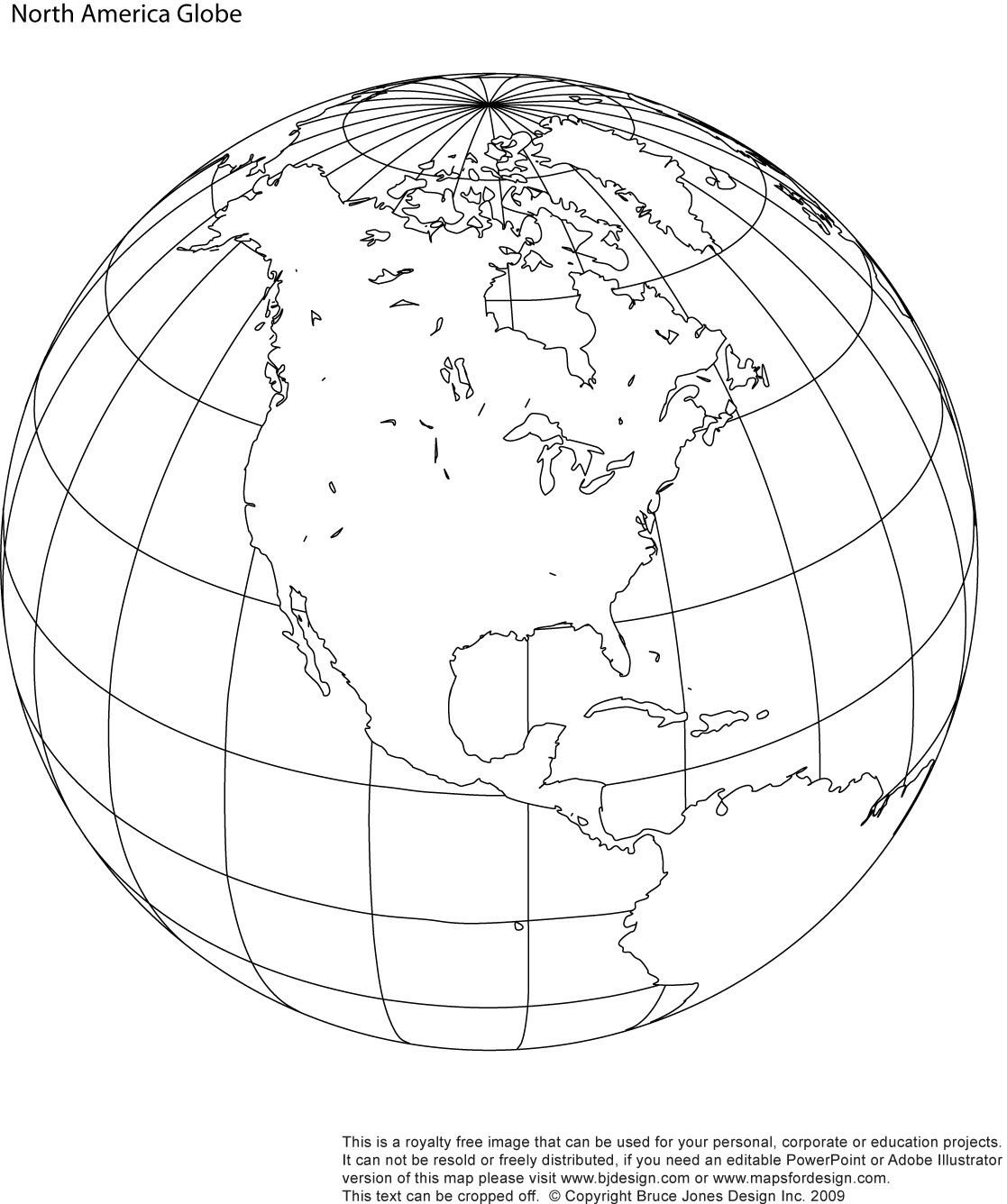 Continent Templates for Globe north America Printable Globe Perfect for A School or